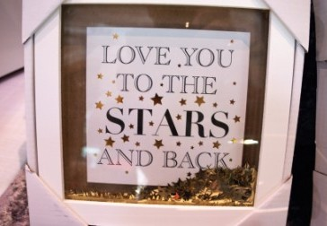 love you to the stars and back pic frame